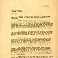 Letter from Joshua Coffin Chase to Sydney Octavius Chase (May 20, 1925)