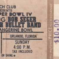 Bob Seger & The Silver Bullet Band Ticket Stub