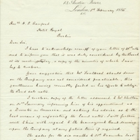 Letter from A. W. Macfarlane to Henry Shelton Sanford (February 3, 1885)