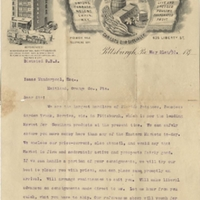 Letter from George B. Agnew to Isaac Vanderpool (May 21, 1895)
