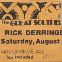Rick Derringer Ticket Stub