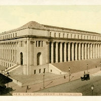 New York Post Office - 8th Ave. & 31st St. Postcard
