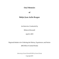 Oral History of Bettye Jean Aulin Reagan