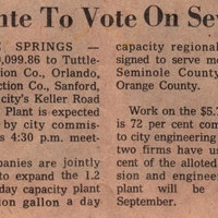 Altamonte to Vote on Sewer Bill