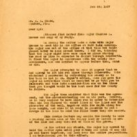 Letter from Joshua Coffin Chase to Sydney Octavius Chase (February 8, 1927)