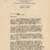 Letter from Sydney Octavius Chase to Joshua Coffin Chase (August 10, 1927)