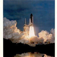 Space Shuttle Columbia Lifts Off Into Space