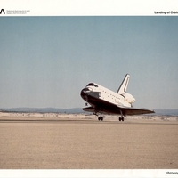 Space Shuttle Atlantis Returning to Earth After Its First Mission
