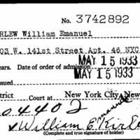 United States of America Petition for Citizenship and Naturalization Card