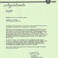 Memorandum from P. E. Lego (May 20, 1988)