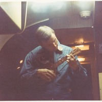 Astronaut Neil Armstrong in Mobile Quarantine Facility