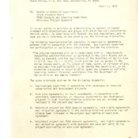 Nondiscrimination Provision from the United States Department of Agriculture and the Soil Conservation Service,1974