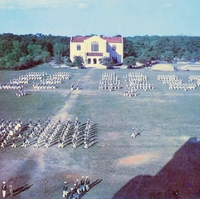 Dress Parade at The Citadel, The Military College of South Carolina Postcard