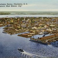 Charleston Harbor Postcard