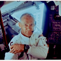Apollo 11 Astronaut Buzz Aldrin Aboard the Lunar Module