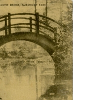 Japanese Bridge, Fairmount Park Postcard