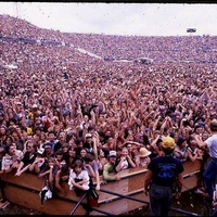 Crowd for the Rolling Stones at Rock Superbowl XII