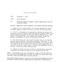 Memorandum from Felix Salvador to Advisory Committee and County Commissioners (September 2, 1966)