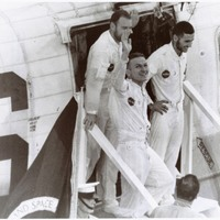 Apollo 8 Astronauts on the USS Yorktown After Splashdown
