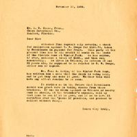 Letter from Joshua Coffin Chase to Sydney Octavius Chase (November 27, 1934)