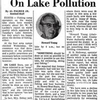 Camp Owners See Need for Action on Lake Pollution