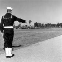 Saluting Sailor at the Orlando Naval Training Center