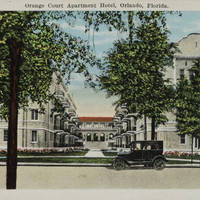 Orange Court Apartment Hotel Postcard