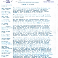 Lake Apopka Restoration Project Weekly Report (January 29 to February 16, 1968)