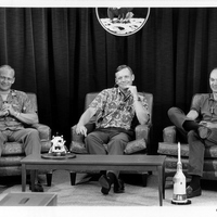 Apollo 11 Crew at Pre-Launch Press Conference