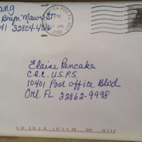 Envelope from J. Huang to Elaine Pancake