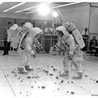 Apollo 12 Crew Training to Use Tools on the Moon