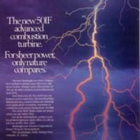 Westinghouse 501F Combustion Turbine Advertisement