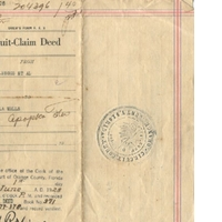 Quit-Claim Deed for Ella Wall (June 1, 1928)