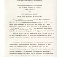 Supplemental Memorandum of Understanding between the Seminole Soil and Water Conservation District and the Soil Conservation Service United States Department of Agriculture, 1968