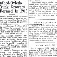 Sanford-Oviedo Truck Growers Formed in 1913