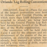 Orlando Log Rolling Convention