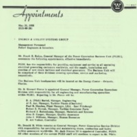 Memorandum from Theodore Stern (May 20, 1988)