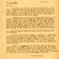 Letter from Joshua Coffin Chase to Sydney Octavius Chase (January 31, 1927)