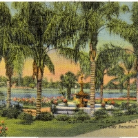 Fountain in Lake Eola Park Postcard