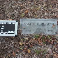Headstone of Agathe G. Helseth at Viking Cemetery