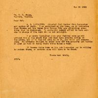 Letter from Joshua Coffin Chase to Sydney Octavius Chase (March 31, 1923)