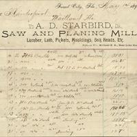 A. D. Starbird Receipt for Isaac Vanderpool (May 14, 1894)