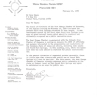 Letter from William A. Breeze to Gary I. Sharp (February 11, 1975)