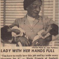 Lady with Her Hands Full