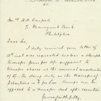 Letter from A. W. Macfarlane to Henry Shelton Sanford (November 20, 1886)
