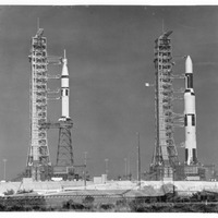 Skylab 1 and Skylab 2 at Launch Pad 39A and Launch Pad 39B