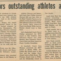 OHS Honors Outstanding Athletes at Banquet