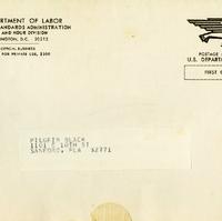 Letter from Robert D. Moran to Pilgrim Black