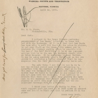 Letter from Sydney Octavius Chase to Joshua Coffin Chase (April 19, 1924)