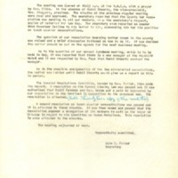 Minutes of Special Meeting, April 21, 1960